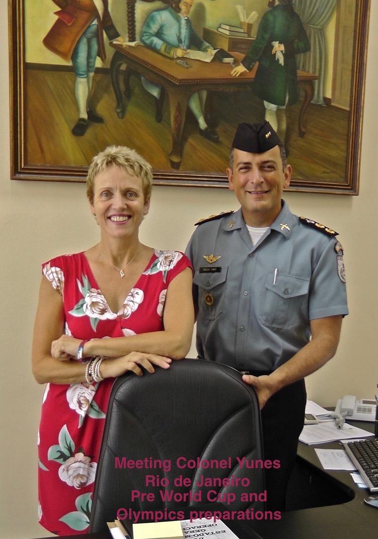 Colonel Yunes on arrival Rio de Janeiro