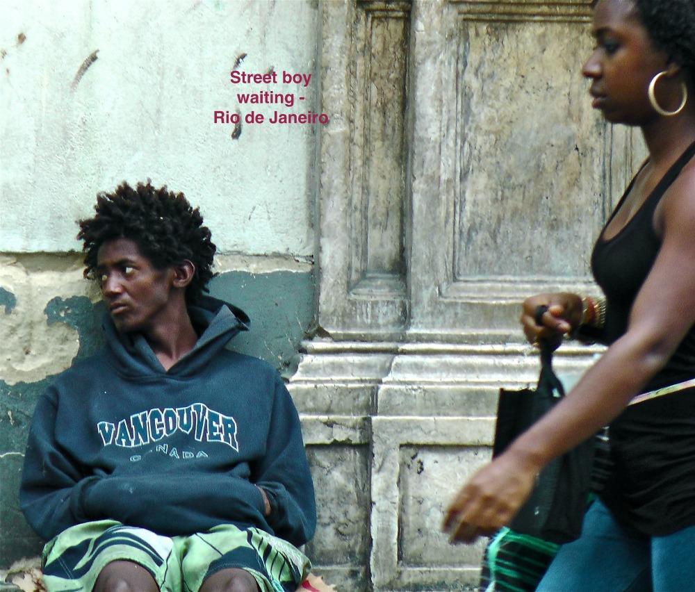Street Boy Waiting - Rio de Janeiro