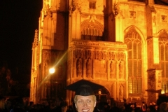 Outside Canterbury Cathedral Ceremony - following University of Kent at Canterbury.