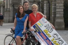 Launch of M3 motorway cycle with TV and Radio personalities Sinead and well known Eamon Keane