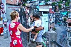 Meeting Rocinha favela locals